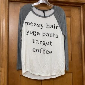 Triumph Novelty Tee Messy Hair Yoga Target Coffee